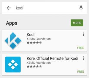 Play Store Kodi